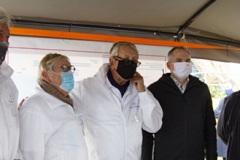 bezoek van Vlaams Minister Diependaele